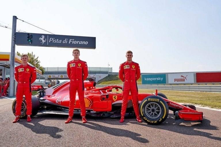 Ferrari Ilott Shwartzman Schumacher