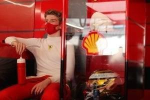 Shwartzman and Fuoco's Scuderia Ferrari day at Yas Island