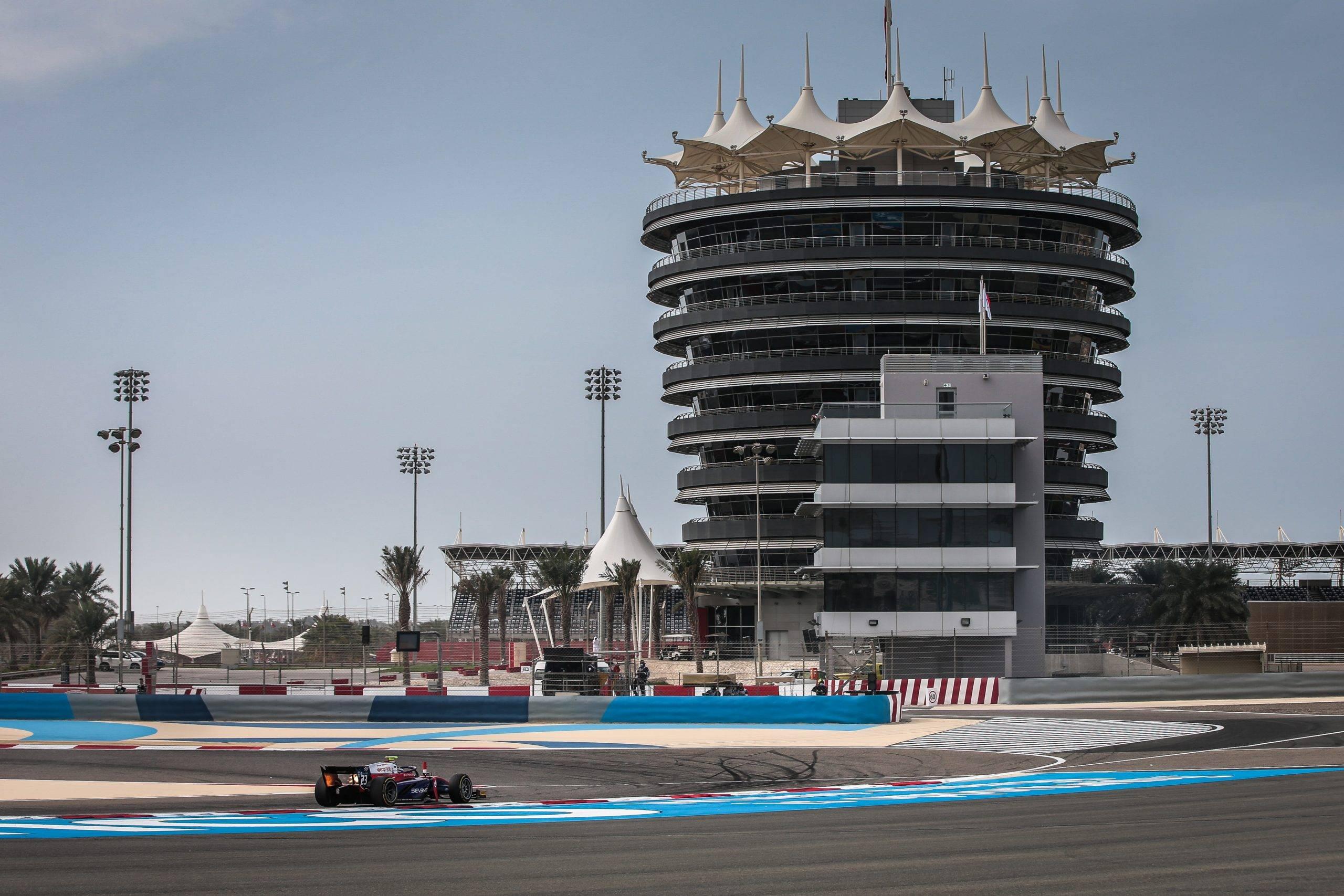 Sakhir (BAH) Nov 27-29, 2020 - F2 Gulf Air Bahrain GP 2020 at Bahrain International Circuit. Marino Sato #23 Trident. © 2020 Diederik van der Laan / Dutch Photo Agency