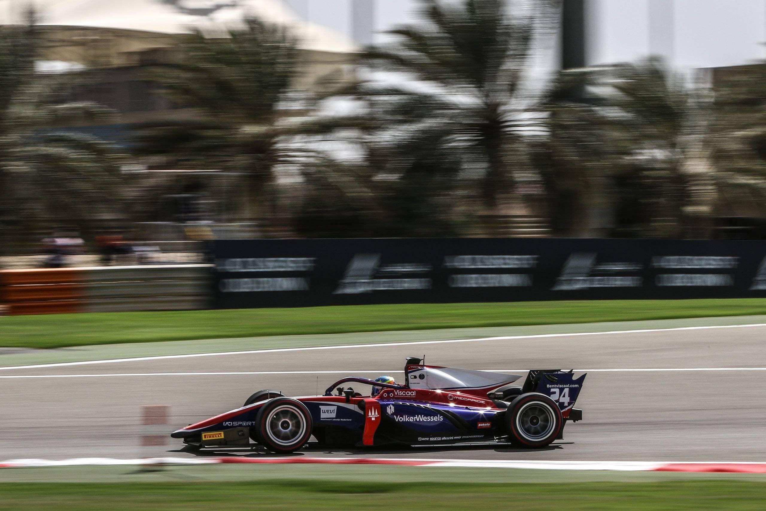 Sakhir (BAH) Mar 26-28, 2021 - First round of the FIA Formula2 Championship at Bahrain International Circuit. Bent Viscaal #24 Trident. © 2021 Diederik van der Laan / Dutch Photo Agency
